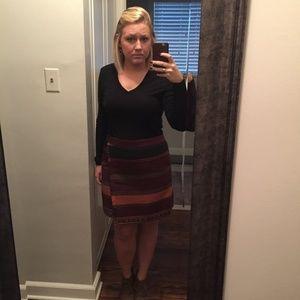 LOFT Aztec Scarf Style Wrap Skirt